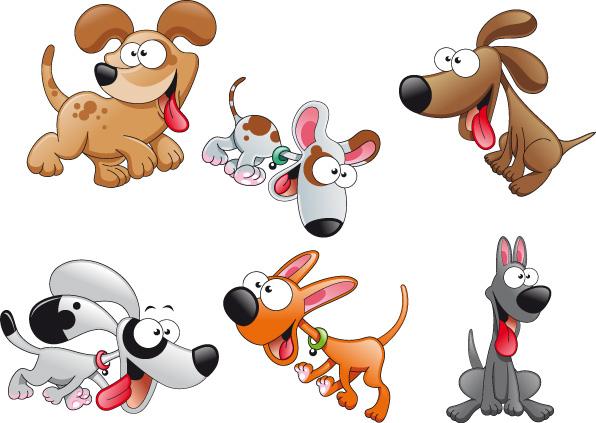 Eps векторные мультяшные собаки